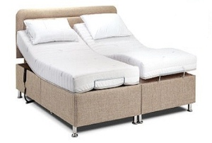 Image of a double sized adjustable bed.