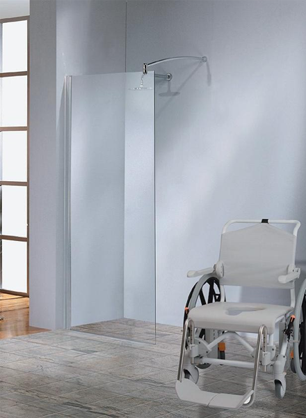 Image showing an accessible shower for a person in a wheelchair.